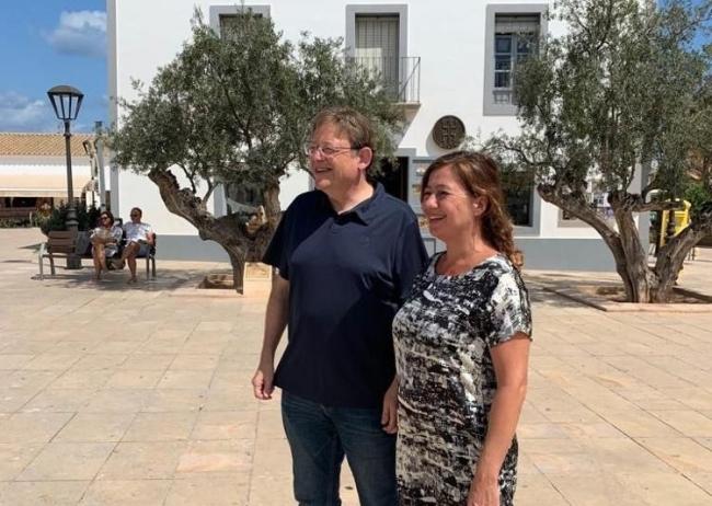 La presidenta Francina Armengol y el presidente de la Generalitat Valenciana, Ximo Puig, mantienen un encuentro para tratar cuestiones comunes