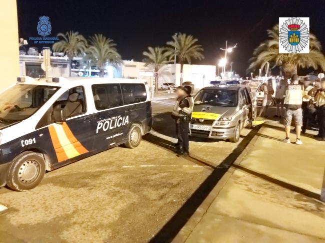La Policía Nacional y la Policía Local de Ibiza, han realizado un control sobre sustancias estupefacientes al volante