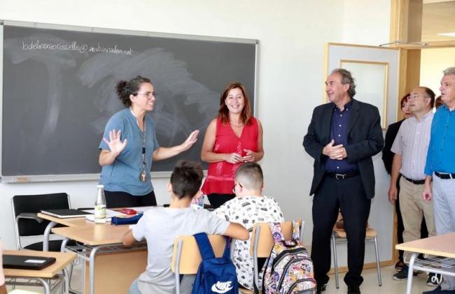 La presidenta Armengol inaugura el curso escolar 2019/20 en el IES Binissalem
