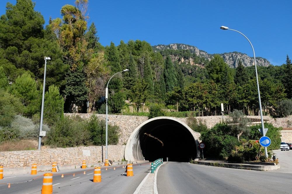 El túnel de Sóller permanecerá cerrado en dirección Sóller, del 22 al 27 de septiembre, por tareas de mantenimiento
