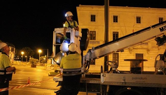 El Ajuntament de Palma ha instalado este año 3.501 luminarias Led que evitan la emsión de 288,76 toneladas de CO2 durante 2019