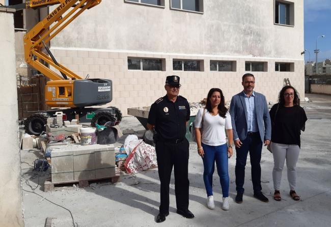 Recta final para reabrir la comisaría de Policía de Son Gotleu que se tuvo que cerrar por un incendio