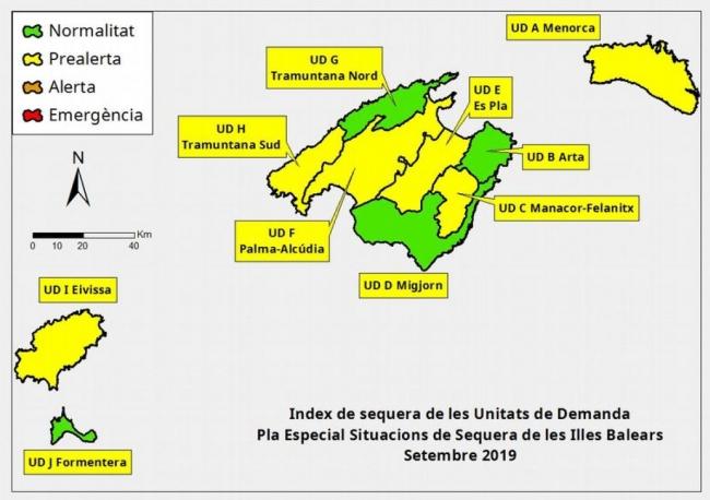 Las reservas hídricas de las Islas Baleares se sitúan en el 50 %