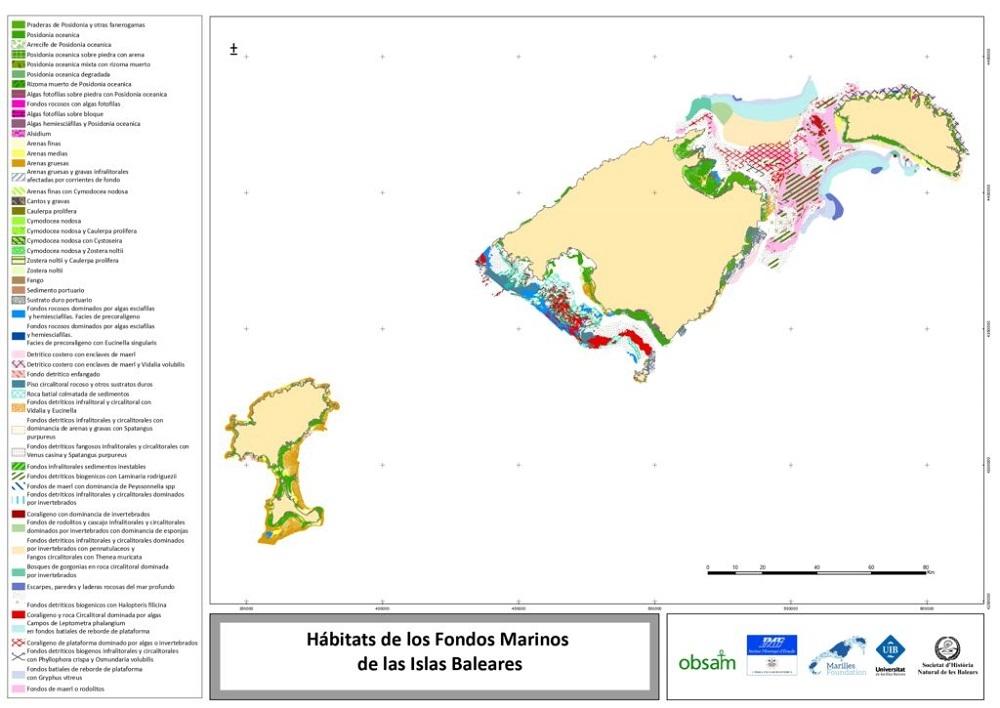 L'OBSAM, la SHNB i Fundació Marilles presentan la nueva cartografía unificada de los fondos marinos de Baleares