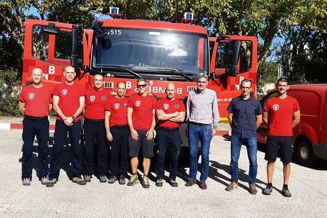 El conseller d'Hisenda i Funció Pública visita los parques de bomberos de Sóller, Inca y Llucmajor