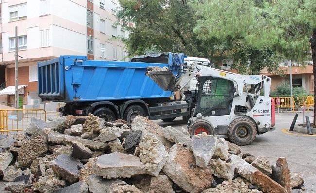 Empieza la renovación del pavimento de los viales del parque de Son Cotoner