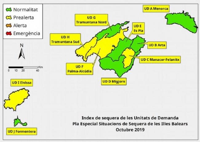 Las reservas hídricas de las Islas Baleares se sitúan en el 52 %