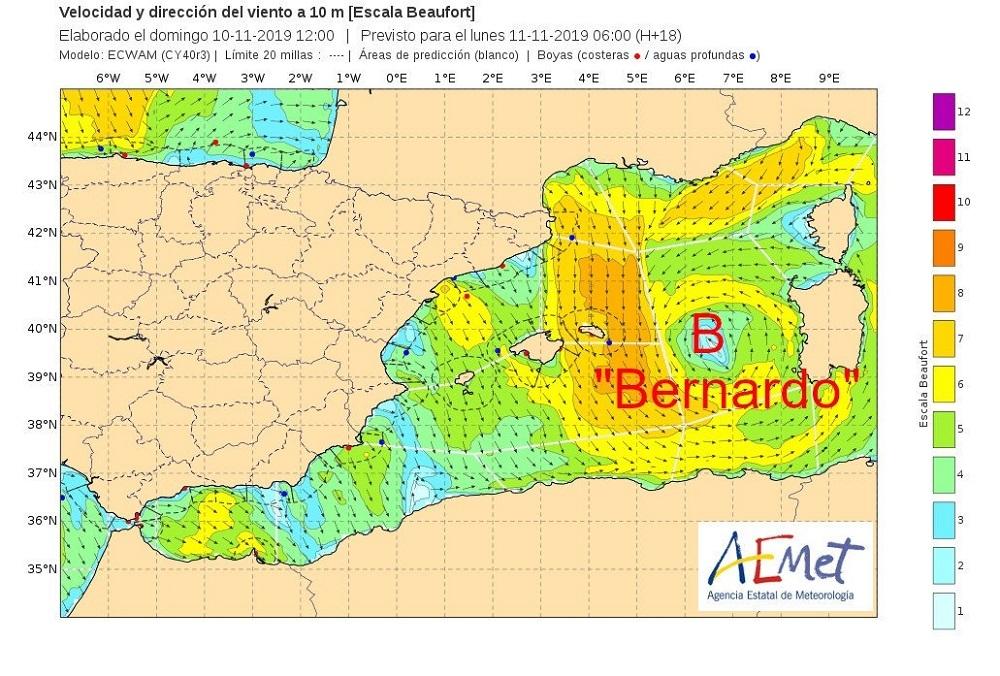 Alerta en Baleares por viento y lluvias, sobretodo en Menorca