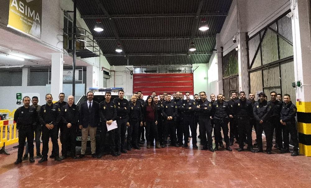 Cerca de 120 policías nacionales realizan un curso de Seguridad Ciudadana en el Antiguo Parque de Bomberos ASIMA