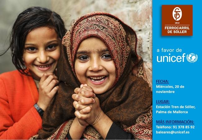 Ferrocarril de Sóller donará a UNICEF toda la recaudación del día 20 de noviembre