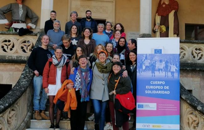 Baleares recibe una decena de voluntarios del cuerpo europeo de solidaridad
