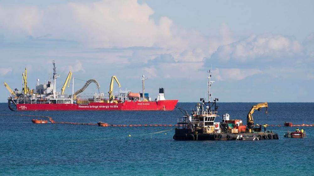 Red Eléctrica finaliza el tendido submarino del enlace eléctrico que unirá las islas de Menorca y Mallorca