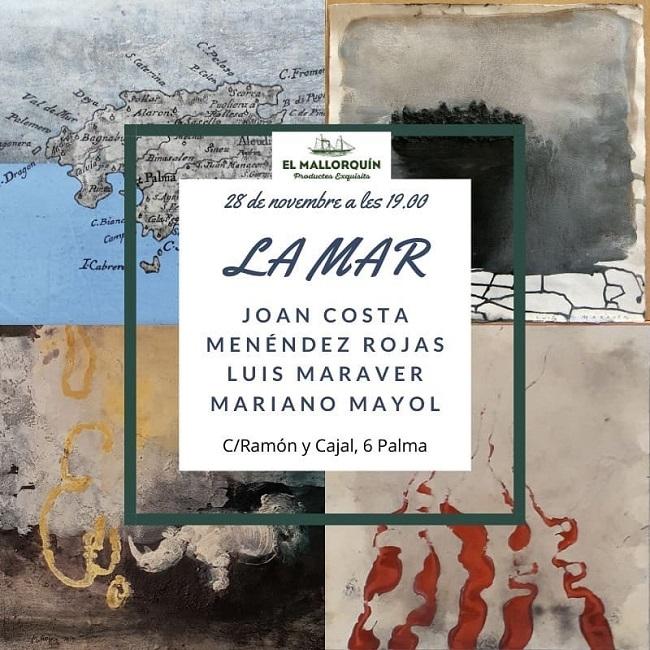 """La vinoteca """"El Mallorquín, 1837"""" presenta l'exposició """"La Mar"""" amb la participació de quatre destacats artistes plàstics de l'illa"""
