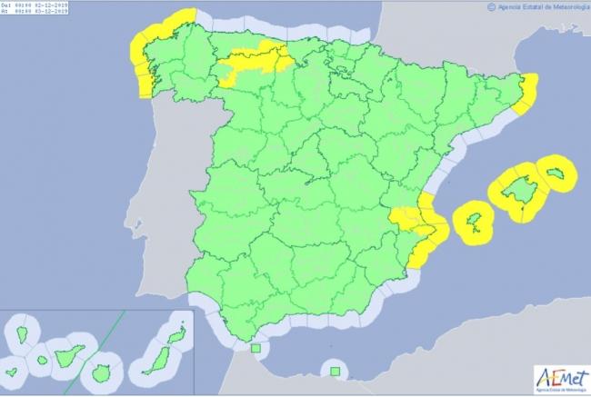 Hoy lunes, avisos en Baleares por lluvia, viento y descenso de temperaturas