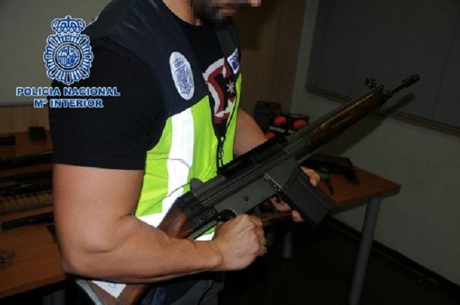 La Policía Nacional interviene un depósito de armas de guerra y municiones