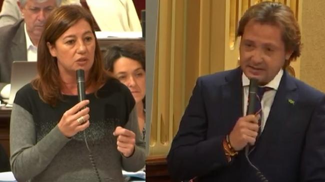"""""""¿Son las Baleares parte de los Países Catalanes?"""" Jorge Campos pone contra las cuerdas a Armengol que elude contestar"""