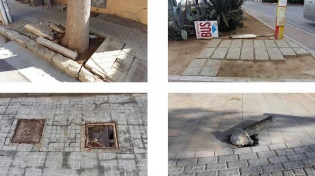 Constatan más de 3 mil deficiencias en la vía pública de la playa de Palma