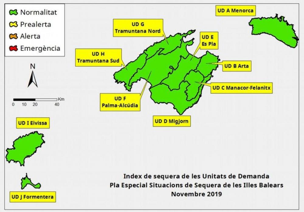 Las reservas hídricas de las Islas Baleares se sitúan en el 63 %