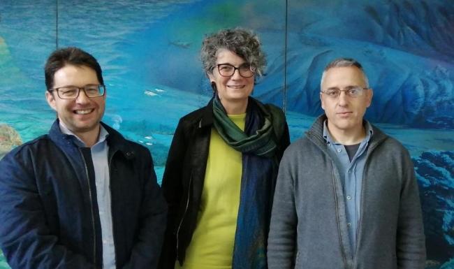 Agustina Vilaret visita el Institut Oceanográfico