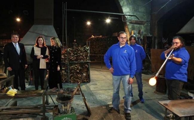 Armengol en la celebración del 300 aniversario de Vidrios Gordiola