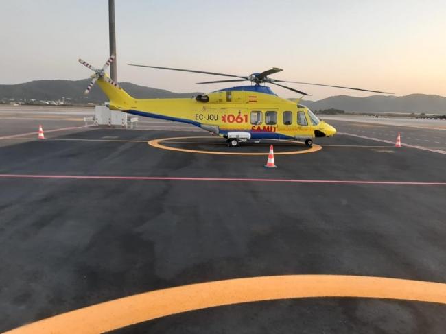 El Servicio de Salud tramita el contrato de urgencia del transporte sanitario aéreo de Eivissa con la empresa Babckok