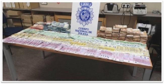 La Policía Nacional incauta más de 1.300 kilos de cocaína y 550.000 euros