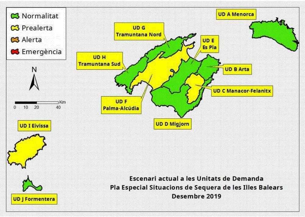 Las reservas hídricas de las Illes Balears se sitúan en el 68 %