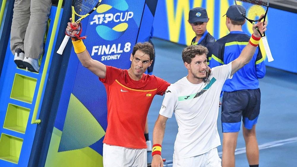 Nadal y Carreño remontan y España pasa a semifinales del Mundial ATP