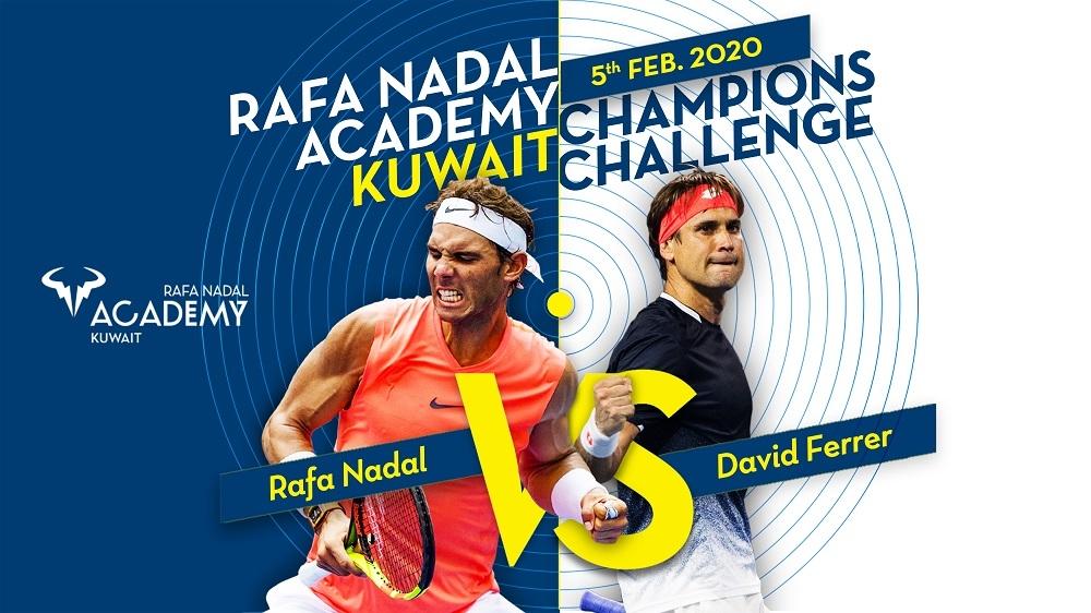 Rafa Nadal y David Ferrer jugarán el partido inaugural de la Rafa Nadal Academy Kuwait
