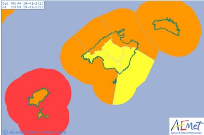 Hoy domingo, lluvias fuertes y vientos de hasta 120 km/h
