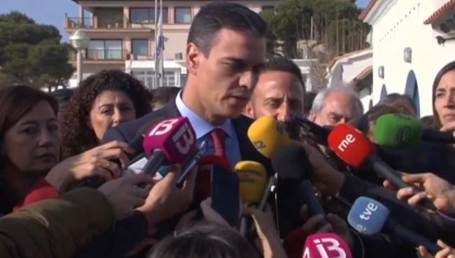 Pedro Sánchez y Armengol visitan Cala Rajada