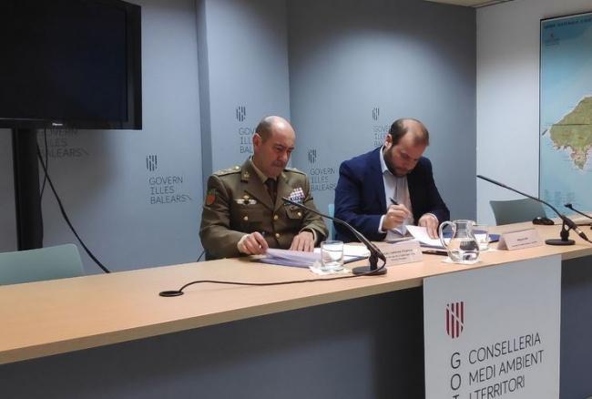 El Govern y Defensa se coordinan para la extinción de incendios forestales en zonas militares