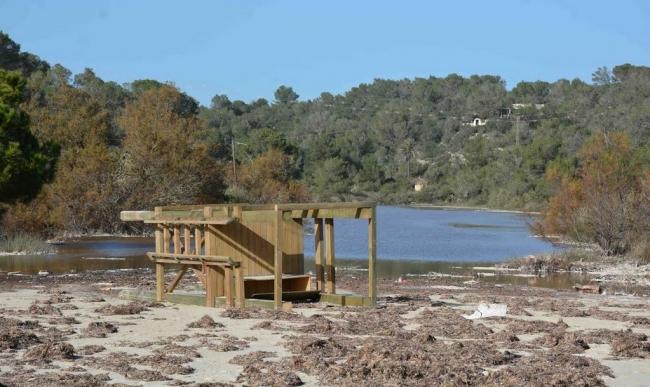 Preocupación en Santanyí por el estado de las playas tras el temporal