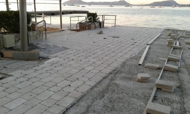 El GOB denuncia las obras ante el Hotel Illa d'Or del Port de Pollença
