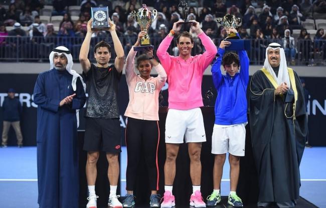 Rafa Nadal y David Ferrer inauguran la Rafa Nadal Academy Kuwait