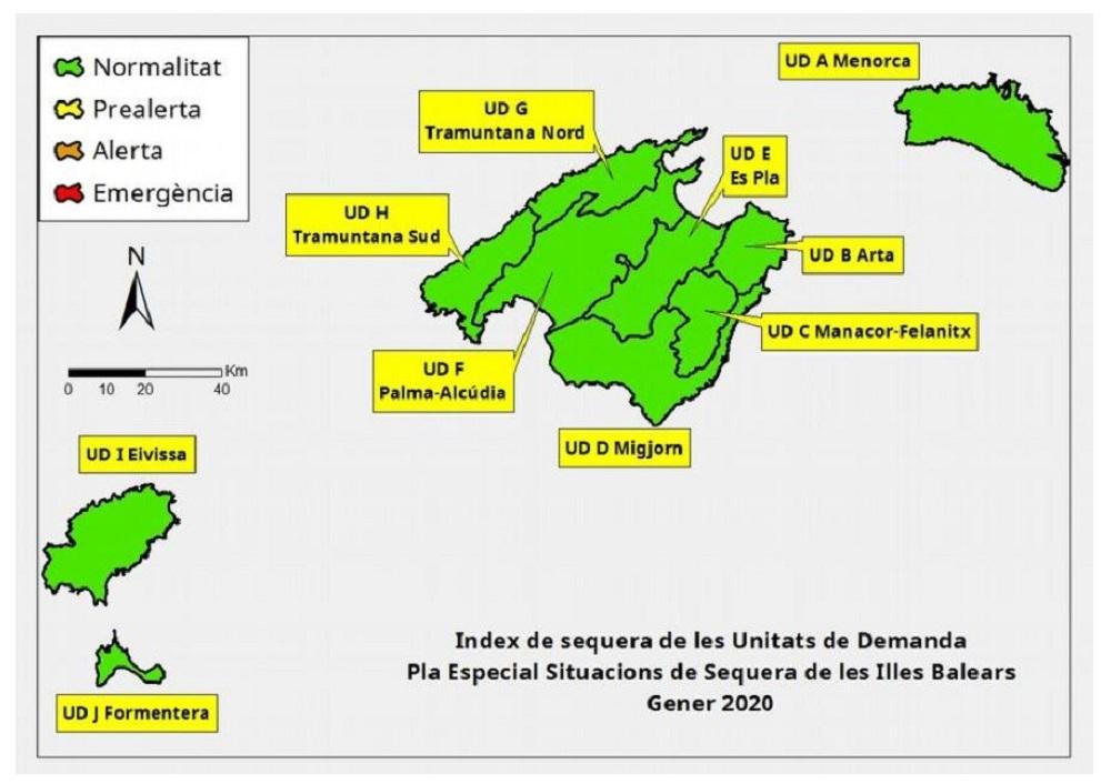 Las reservas hídricas de las Islas Baleares se mantienen en el 68 %