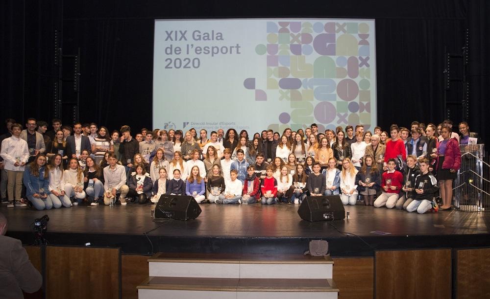 La XIX Gala del Deporte del Consell reconoce el mérito a más de ciento veinte jóvenes deportistas mallorquines
