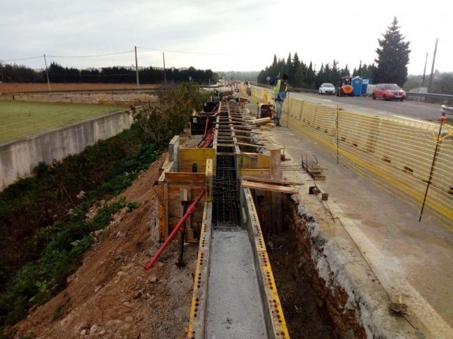 Avanzan a buen ritmo las obras del paseo de la estación de Muro