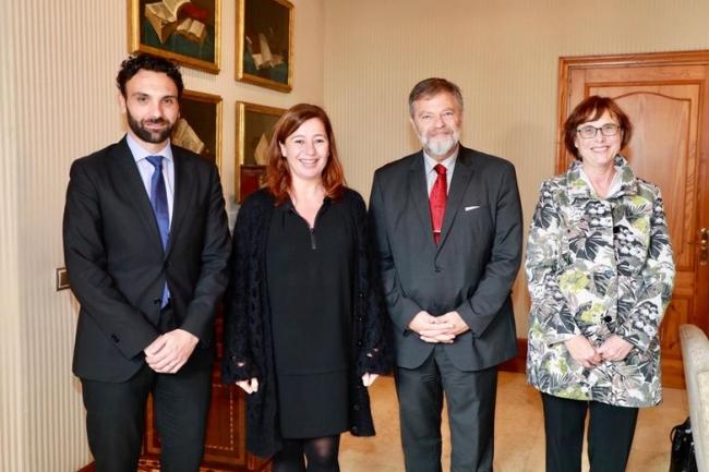 Audiencia de la presidenta Armengol con el embajador de Alemania en España