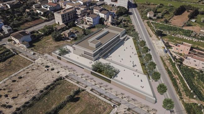 Una escuela nueva en Campos con tres plantas, amplios patios y respetuosa con el patrimonio local