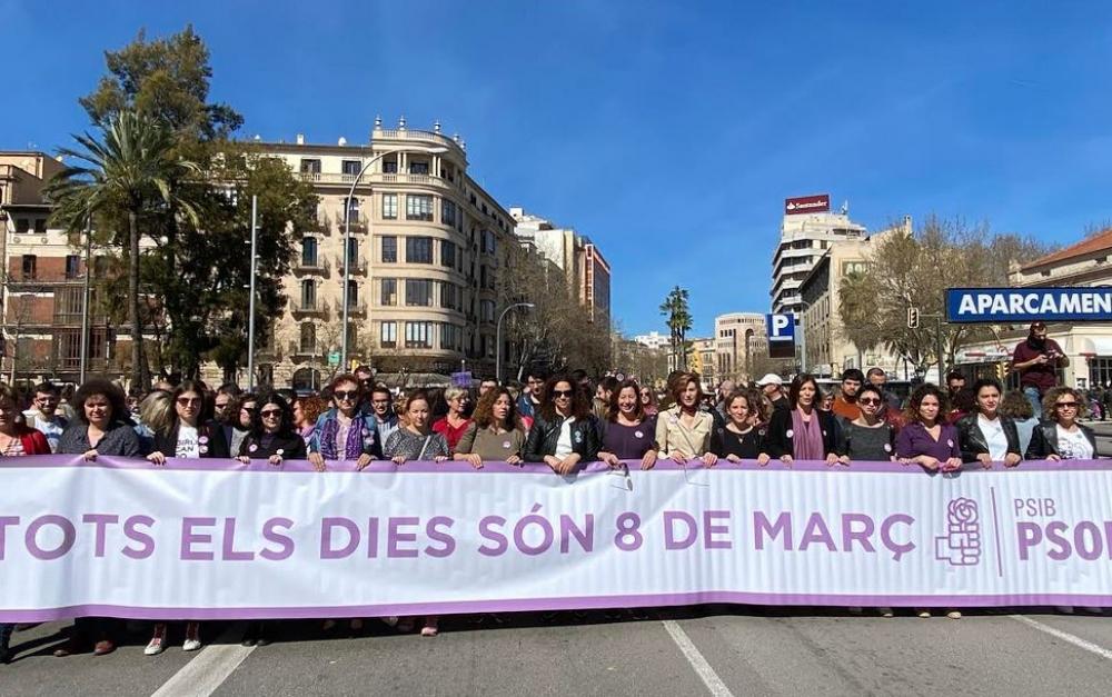 Manifestación en Palma por el Día Internacional de las Mujeres