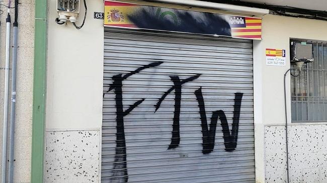Nuevo ataque a la sede VOX Inca