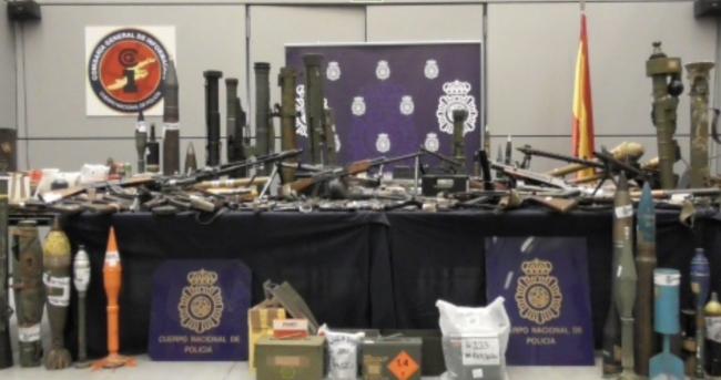 La Policía Nacional interviene en Zamora un depósito de armas de guerra y explosivos