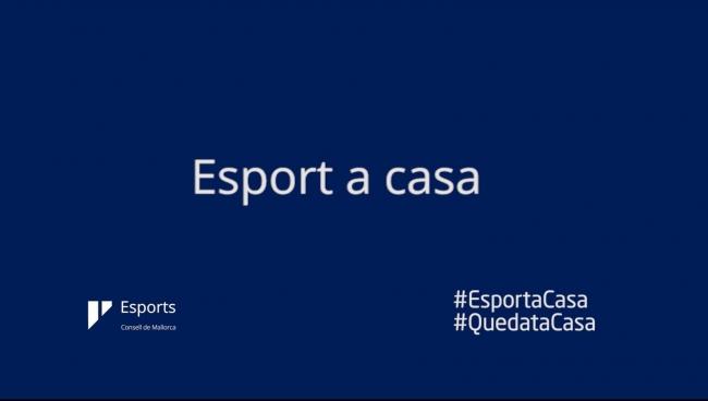 El Consell posa en marxa «Esport a casa», unitats didàctiques en vídeo, relats d'esportistes, i sessions esportives en línia