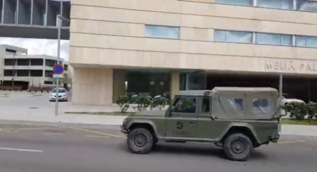 Medicalizan el hotel Meliá Palma Bay con el apoyo del Ejército