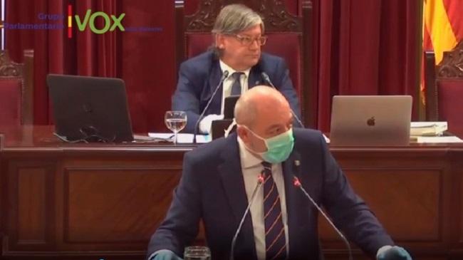 """Sergio Rodríguez pide lealtad y unidad en el Parlamento Balear: """"España prevalecerá"""""""