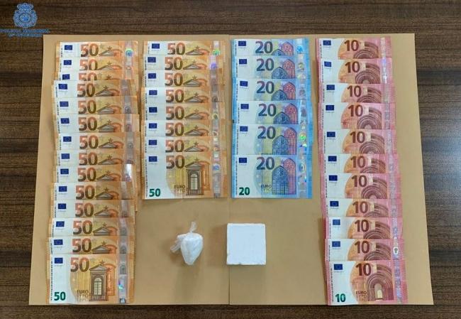 La Policía Nacional detiene en un control en Palma a un hombre con cocaína