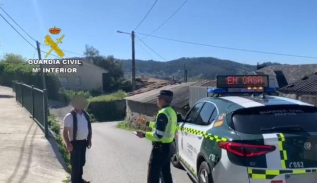 La Guardia Civil localiza a una persona haciendo ejercicio físico que simuló encontrarse mal para evitar ser denunciado