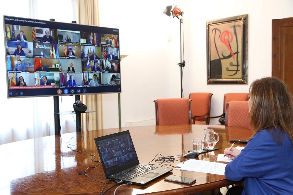 Armengol se reune con Pedro Sánchez, y el resto de presidentes y presidentas autonómicas