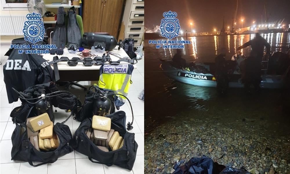 La Policía Nacional detiene in fraganti a dos narcobuzos profesionales
